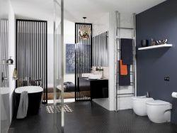 時尚風格家裝衛生間玻璃隔斷圖片