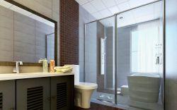 現代家裝衛生間玻璃隔斷圖片