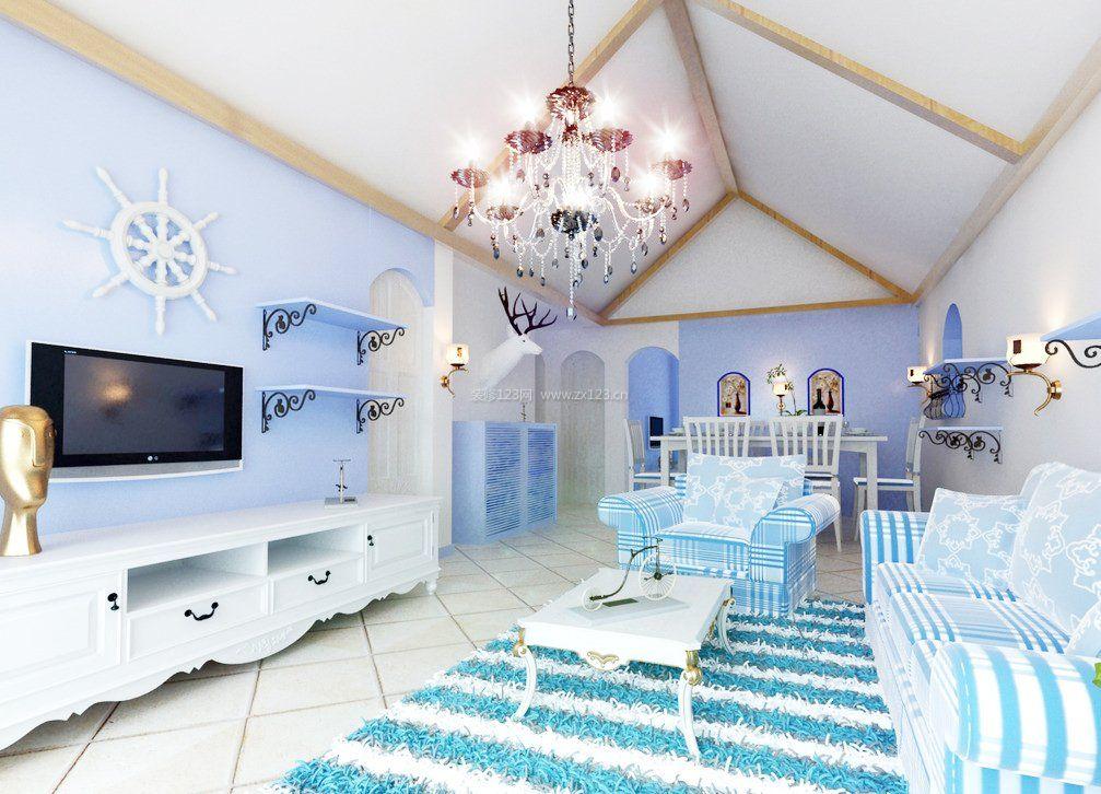 地中海风格客厅吊顶装修效果图大全图片