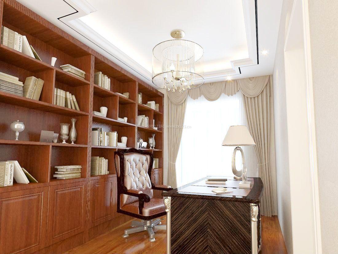 书房室内书柜效果图大全图片_装修123效果图