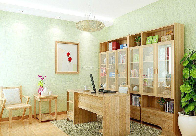 家庭书房书柜装修效果图大全2017图片