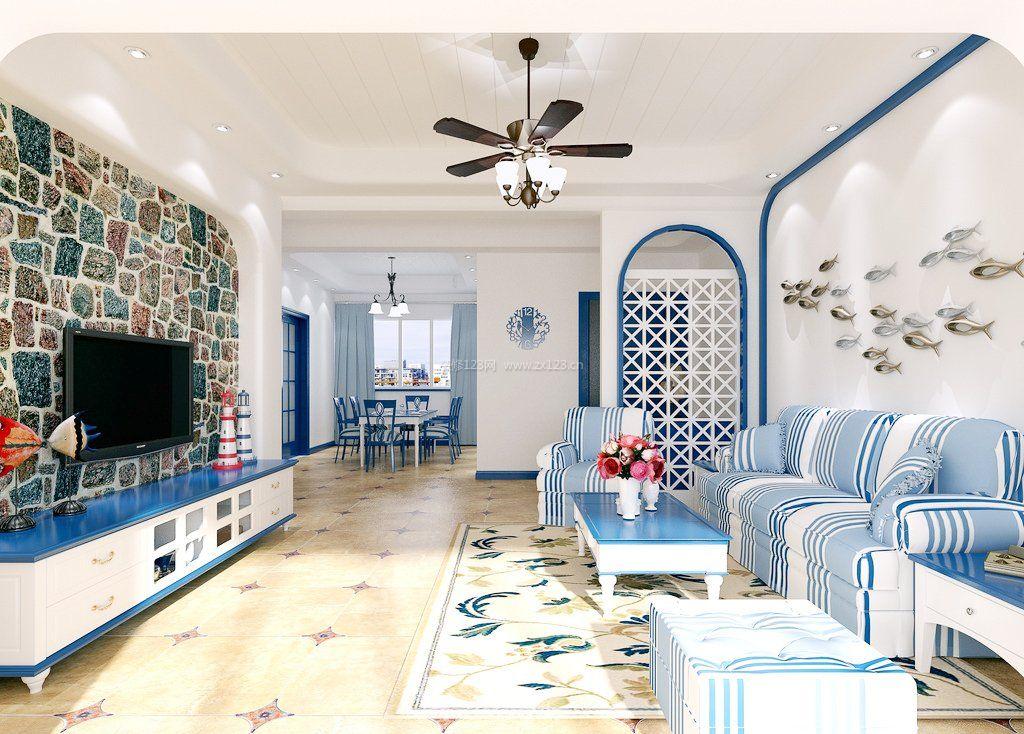 家装效果图 地中海 地中海风格客厅装修效果图大全图片 提供者