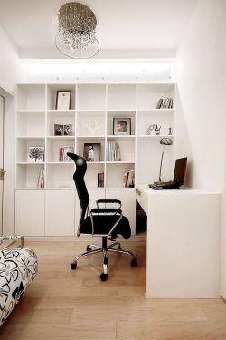 白色简约家装书柜效果图大全图片