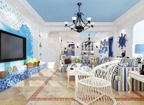 地中海风格客厅装修效果图大全图片欣赏