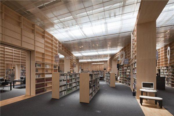 大型图书馆装修设计(请点击:图书馆效果图)-佛山图书馆装修报价