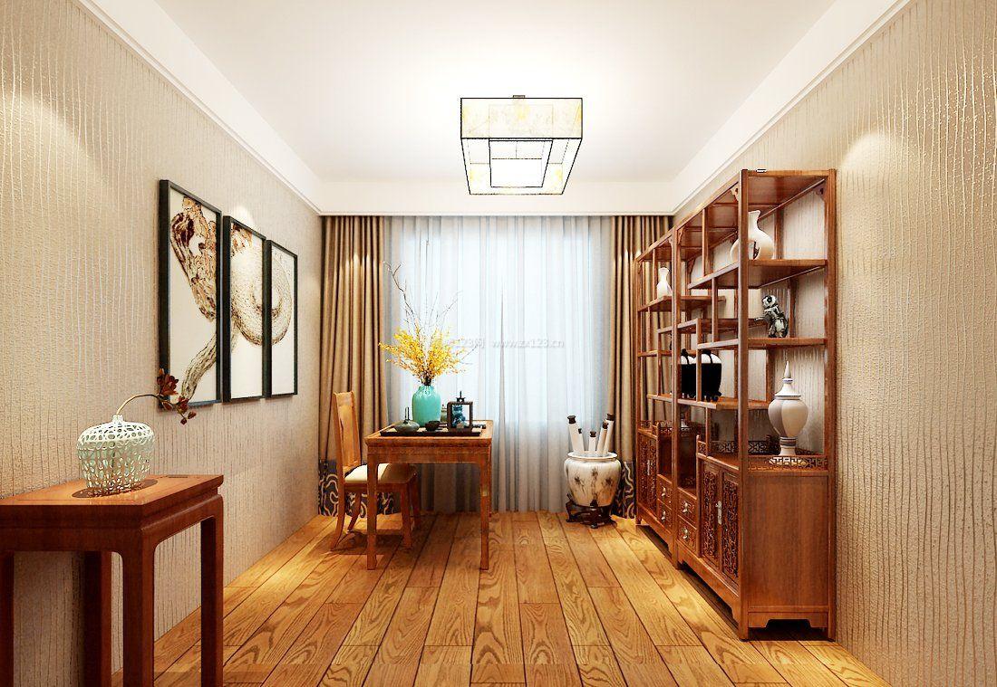 家装效果图 书房 书房浅黄色木地板装修效果图大全图片 提供者:   ←