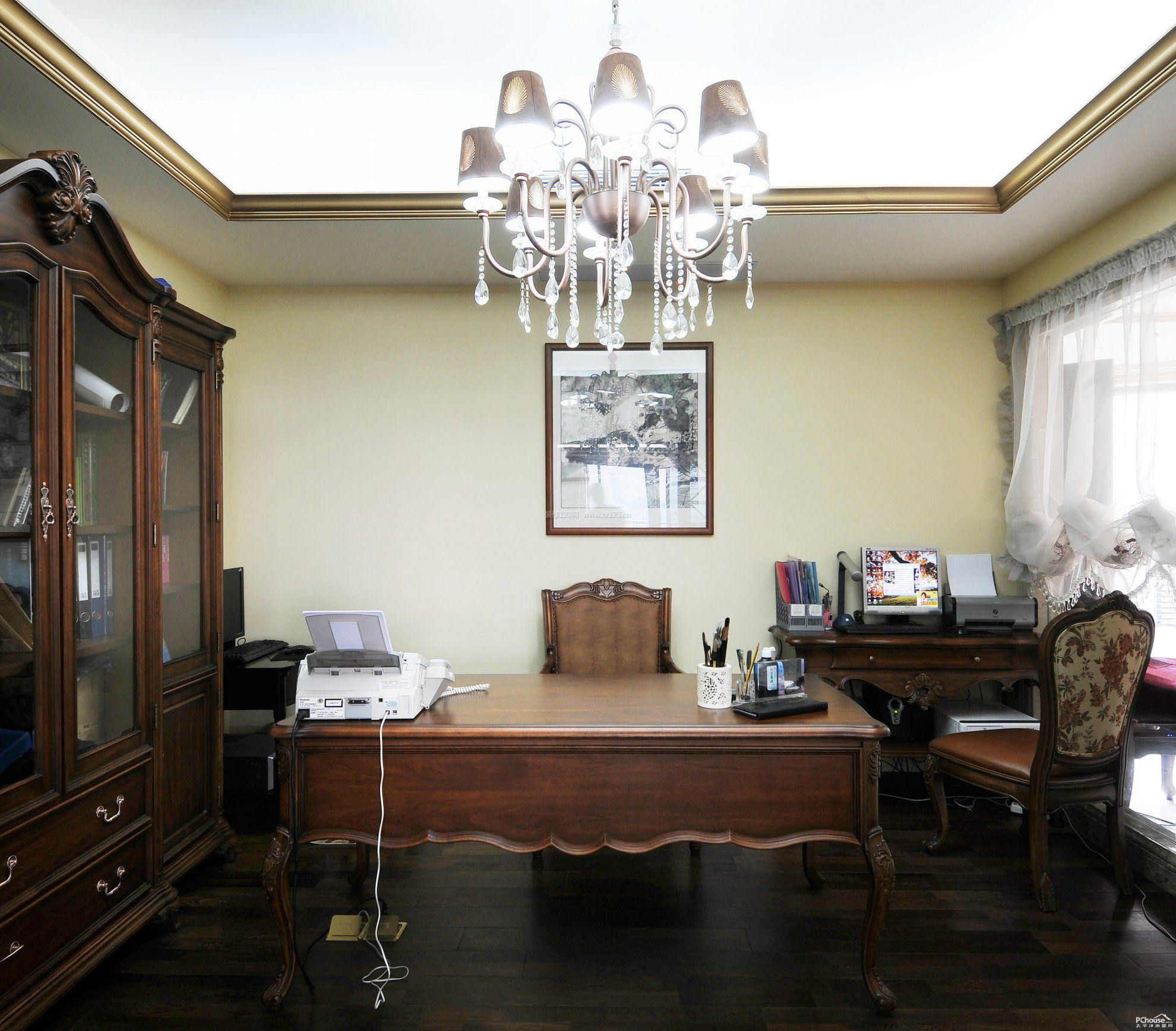 书房办公室家具装修效果图大全图片