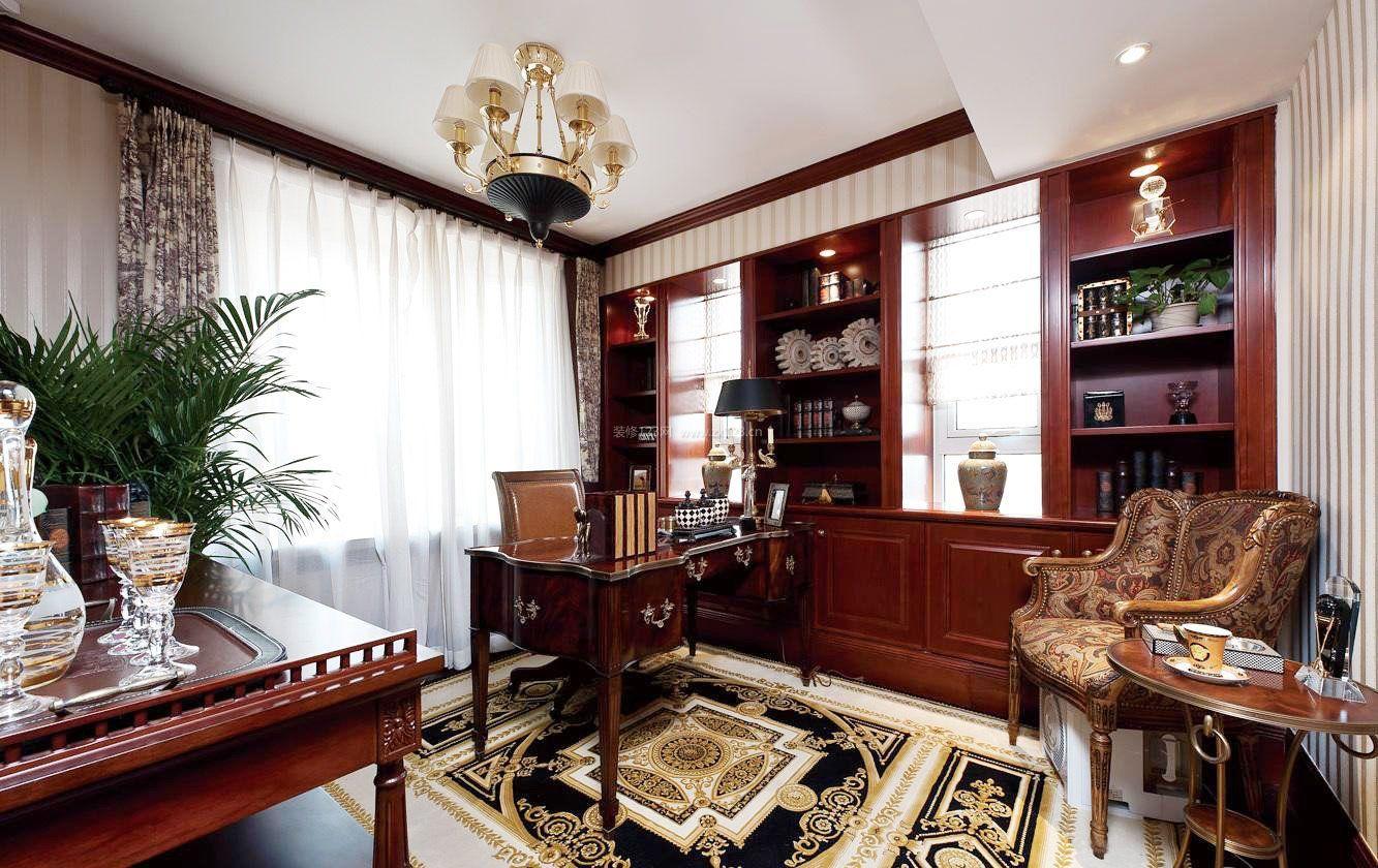 家装效果图 美式 美式古典风格书房装修效果图大全图片 提供者图片