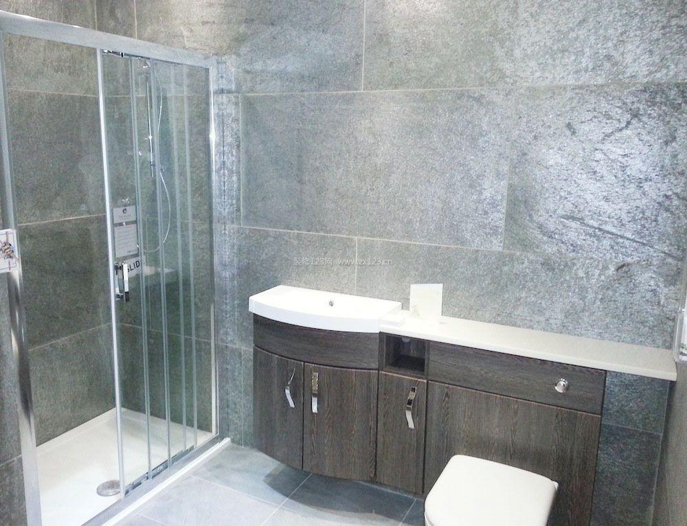 小卫生间淋浴房浴室柜效果图片2017