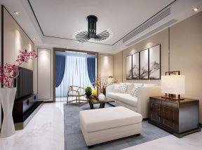 简约新中式装修效果图 2017中式沙发背景墙装饰画图片