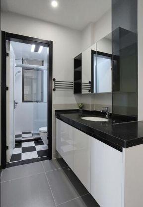 现代北欧风格家装效果图 干湿分离卫生间装修效果图