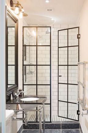 小衛生間淋浴房效果圖片 門框裝飾裝修效果圖片