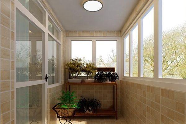 家居装修阳台瓷砖铺贴效果图