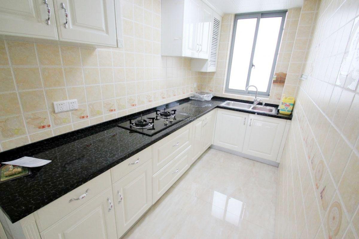 长方形家庭小厨房设计装修效果图片_装修123