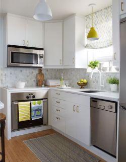长方形家庭小厨房设计装修效果图片