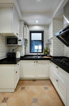 美式风格厨房装修效果图 2017厨房白色瓷砖贴图大全