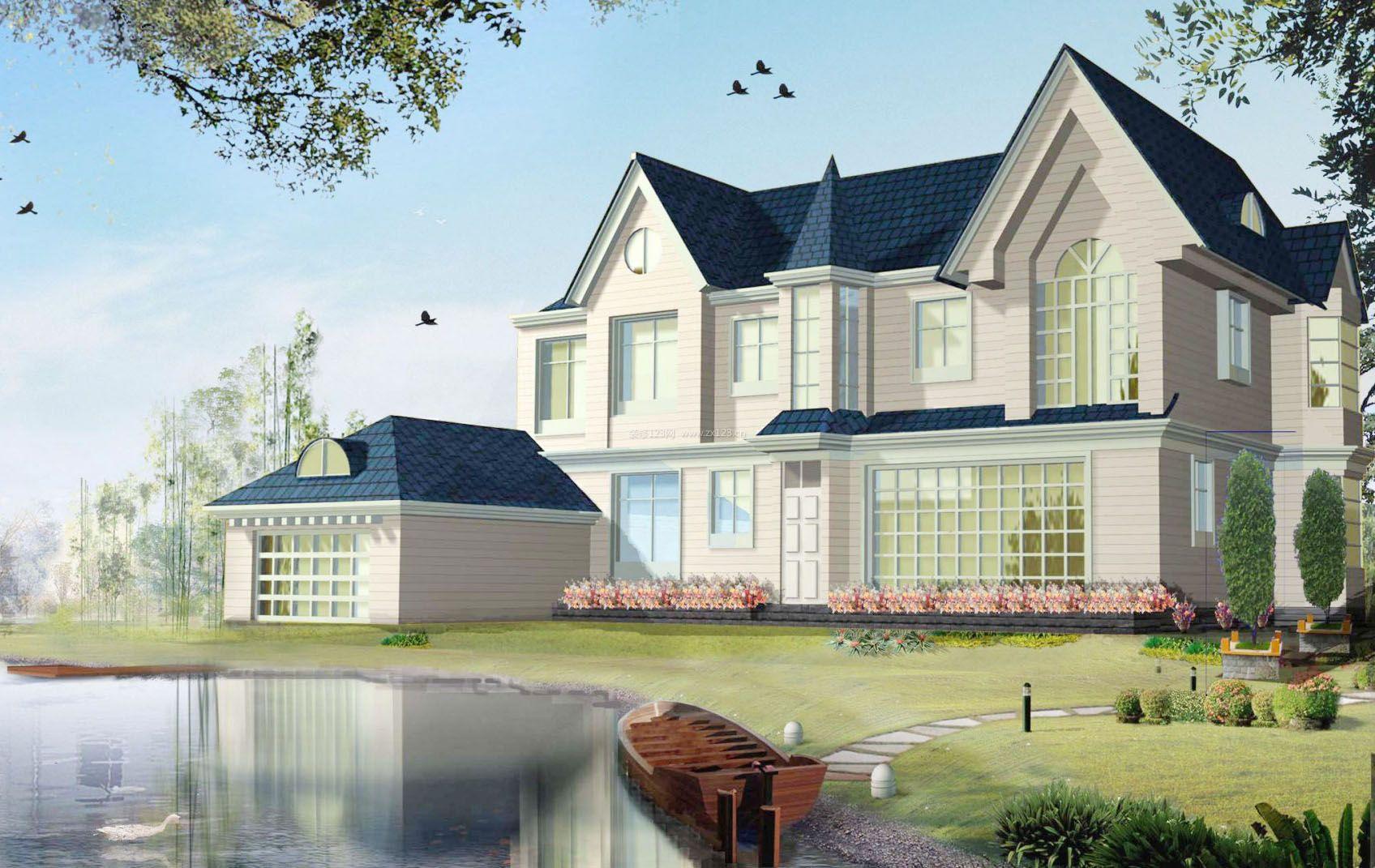 欧式别墅外观效果图纸2015最新款农村房子   房屋别墅设计图相关图片