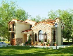 欧式两层别墅外观设计图2017图片