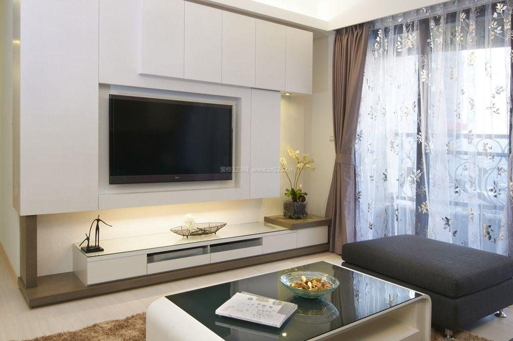 简单电视墙装修设计效果图欣赏