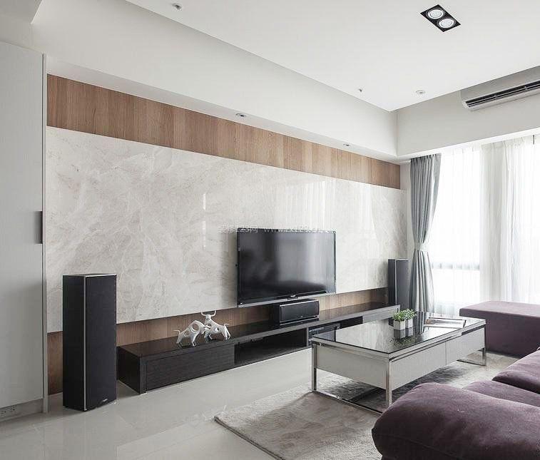 简单时尚电视墙装修设计图