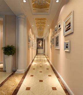 简欧三室两厅两卫装修效果图 2017过道走廊吊顶效果图图片