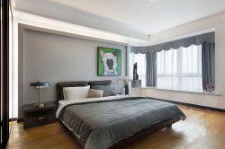 2017现代简约家居卧室转角飘窗窗帘装修效果图片图片
