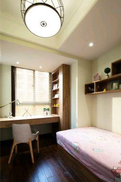 新中式卧室飘窗书桌书柜装修效果图片