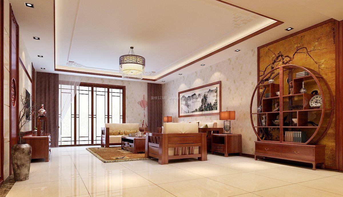 中式风格室内客厅装修效果图大全图片