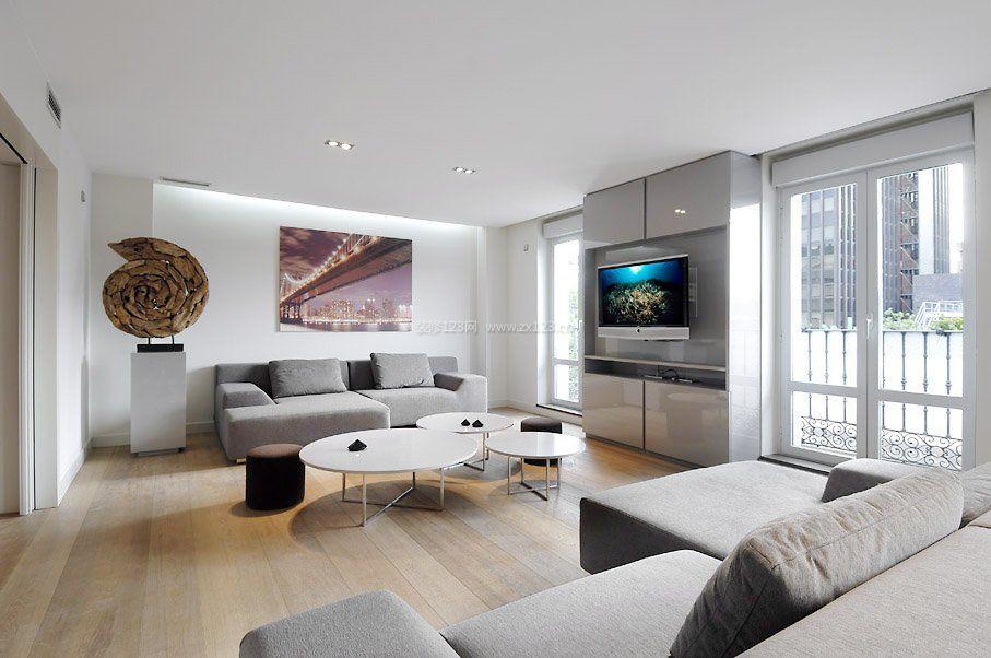 家装效果图 现代 现代简约风格客厅装修效果图两室一厅 提供者