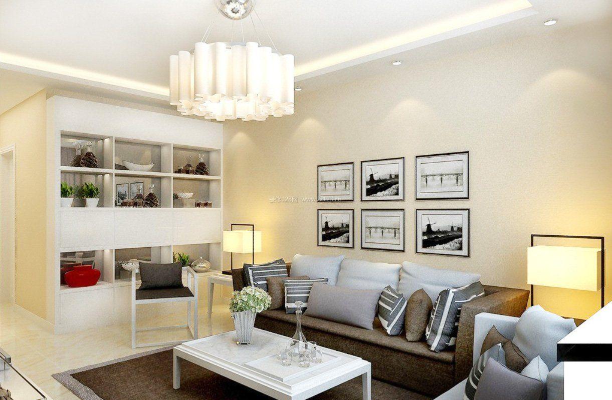 家装效果图 现代 两室一厅现代简约风格沙发背景墙装修效果图 提供者