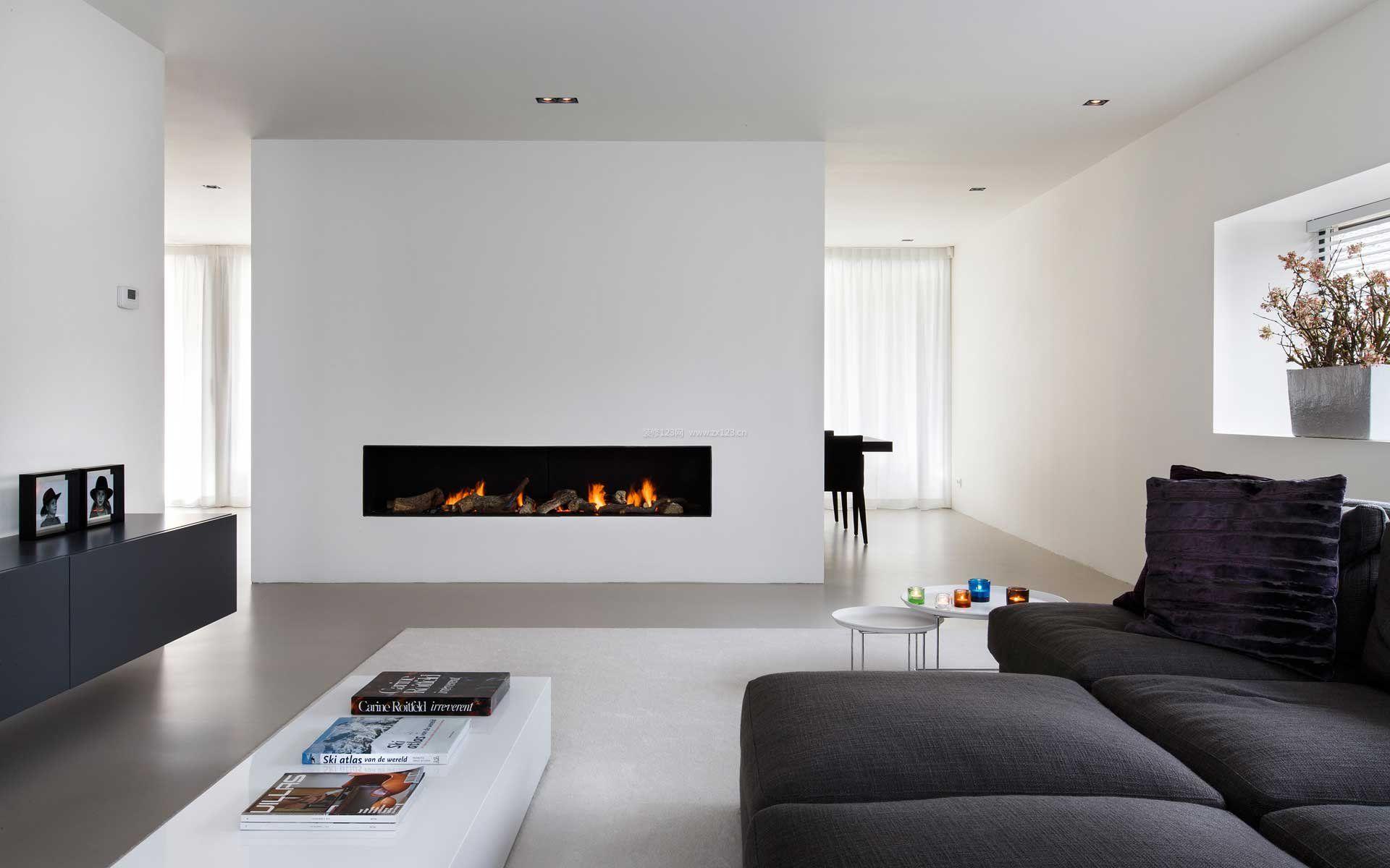 家装效果图 简装黑白风格房屋装修效果图大全 提供者
