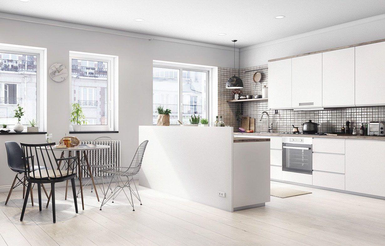 2017现代欧式风格开放式厨房装修图片