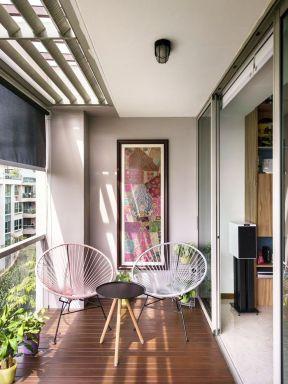 超小阳台设计 2017开放式休闲阳台设计图