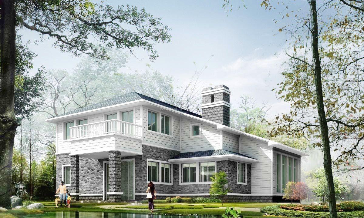 欧式建筑小别墅外观设计图片