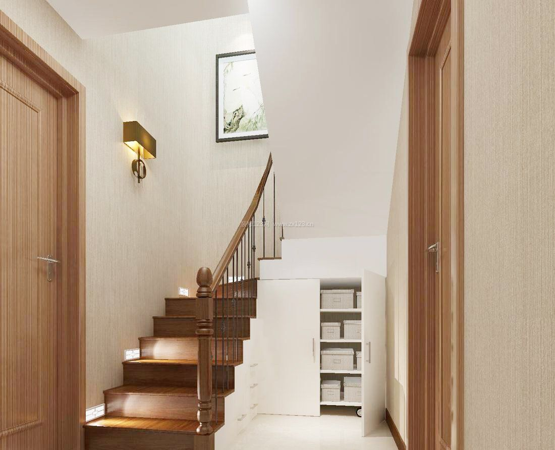 现代风格复式楼楼梯栏杆图片大全