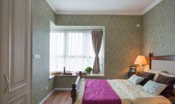 时尚家居卧室转角飘窗装修效果图片图片