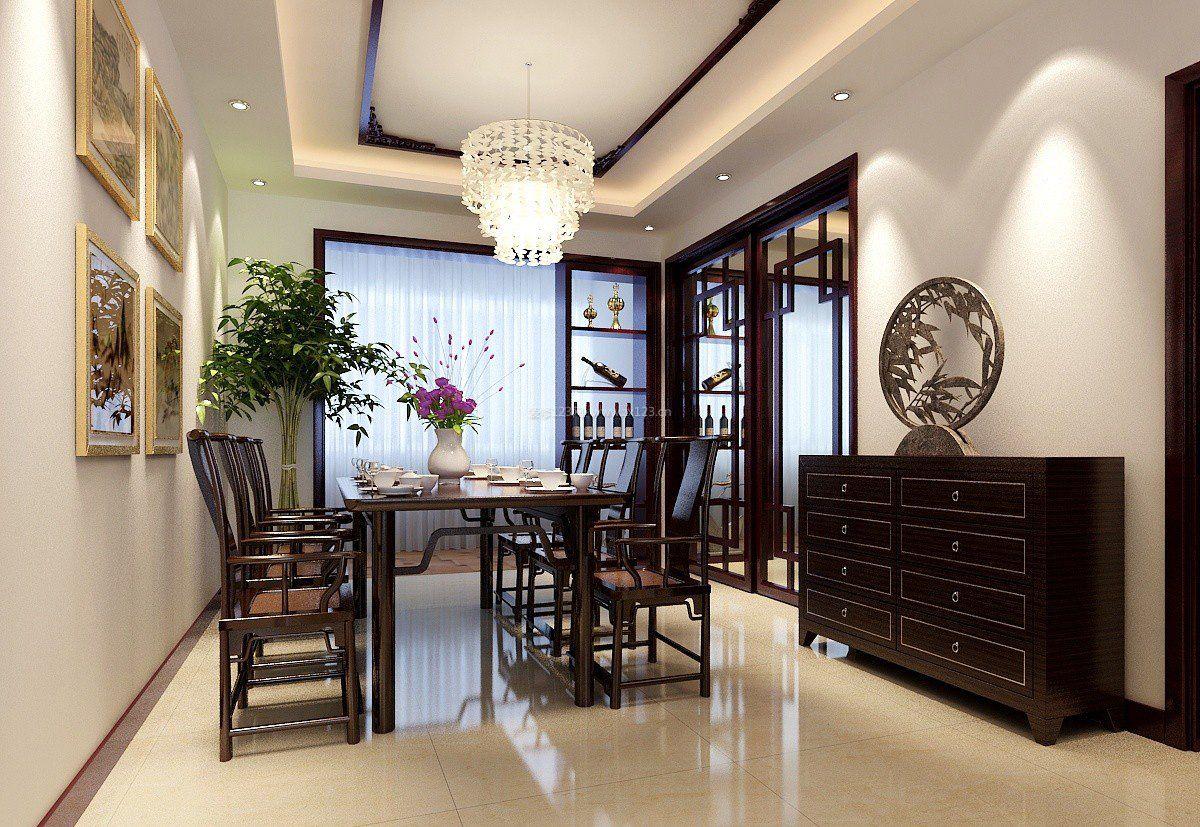 家装效果图 中式 新中式风格精美漂亮的餐厅吊顶图片 提供者:   ←图片