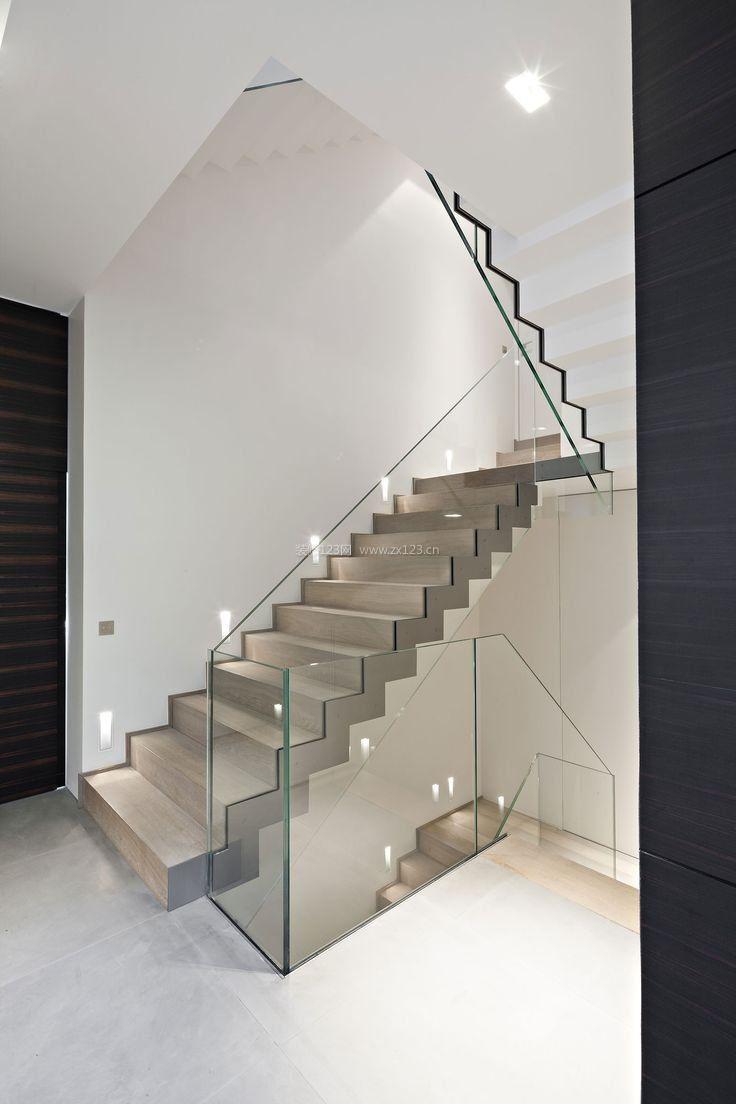2017别墅大厅室内楼梯装修效果图片