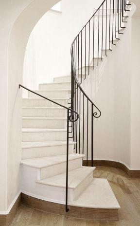 别墅大厅楼梯效果图片 极简风格装修效果图图片