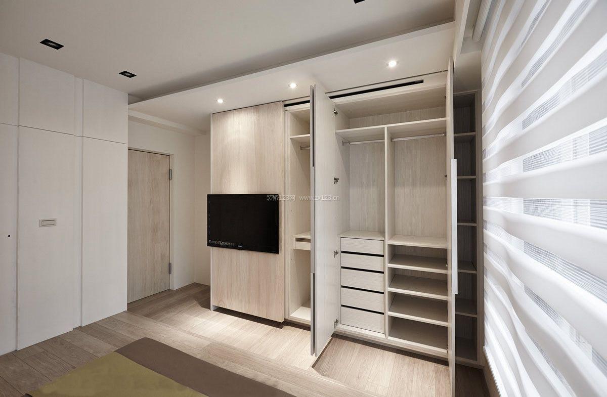 现代北欧风格卧室衣柜内部设计装修效果图
