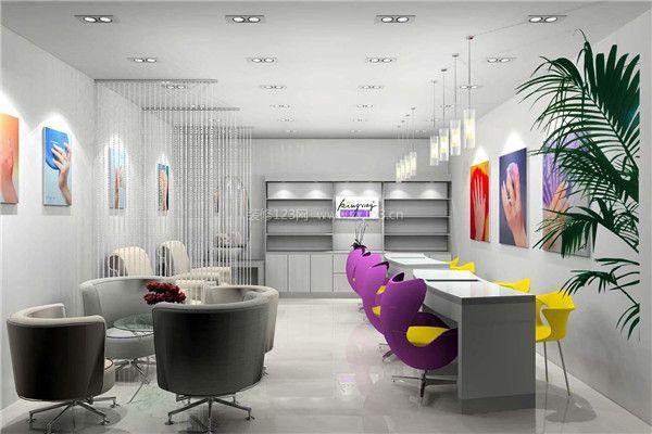 庆阳比较店装修设计木板美甲店美甲装修好技巧墙不规则背景图片