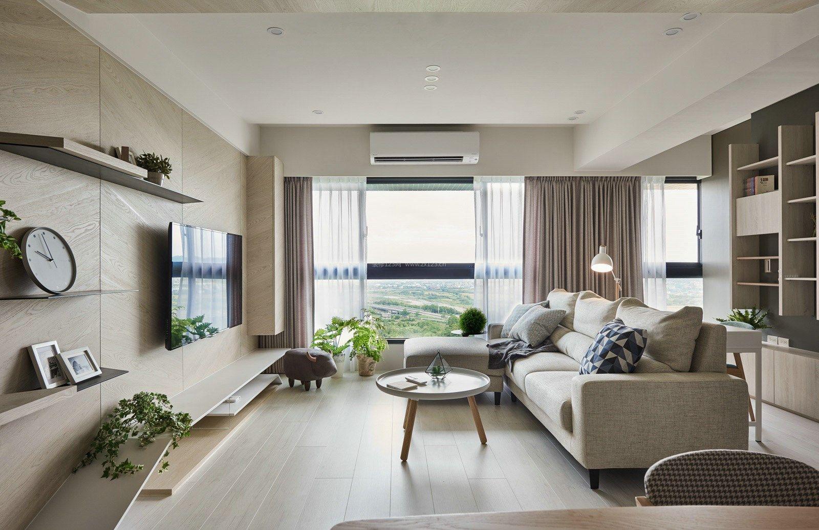 现代北欧风格100平米房屋装修图片_装修123效