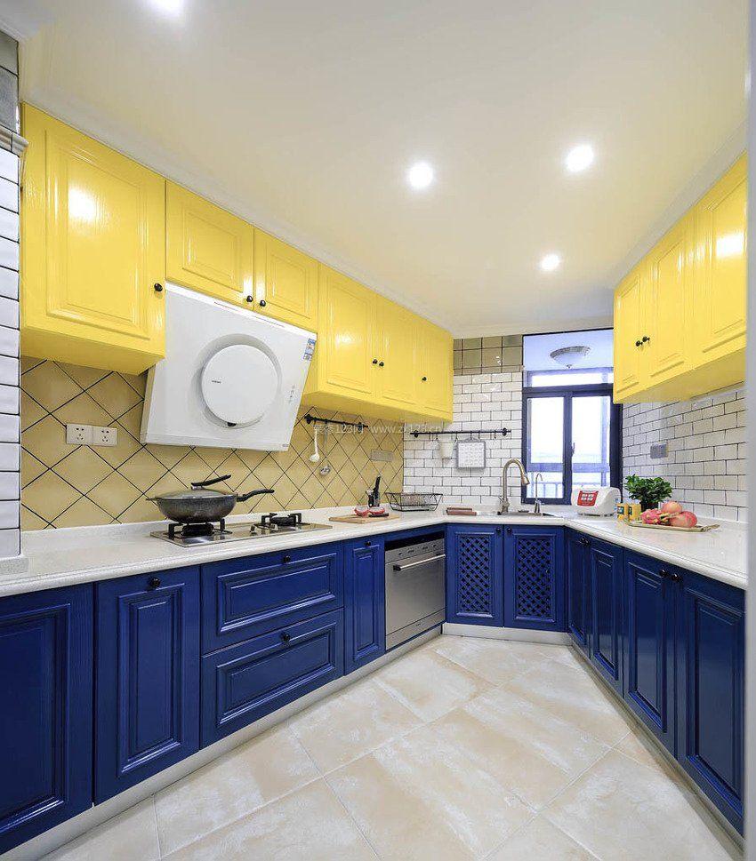 70平米两室一厅厨房吊柜装修图