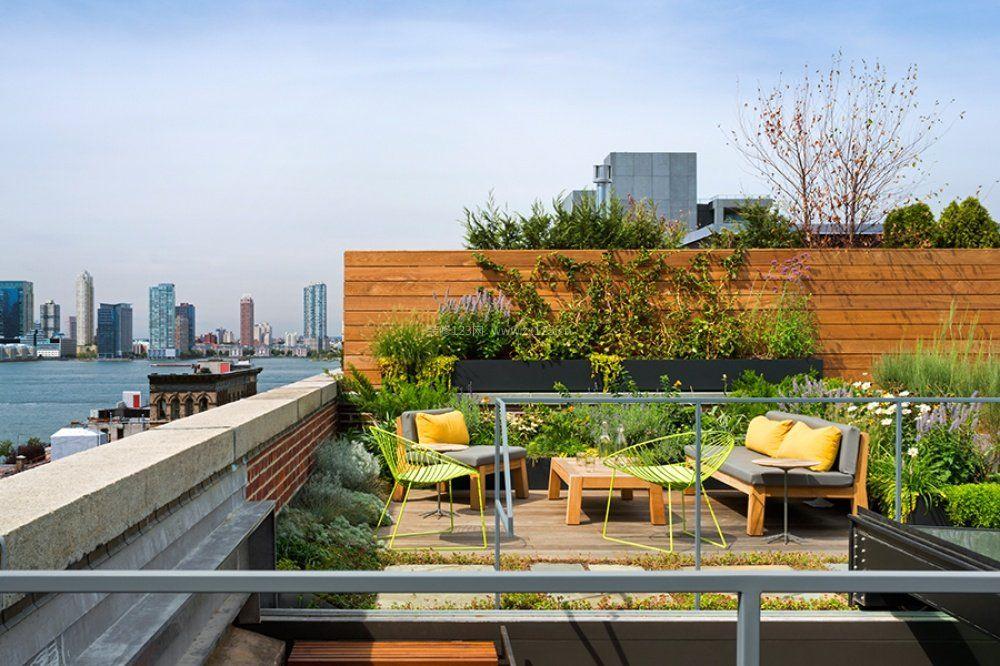 精美别墅屋顶花园设计效果图