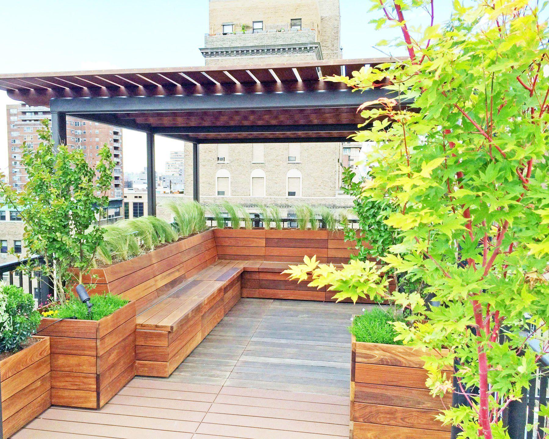 别墅屋顶花园座椅设计效果图_装修123效果图