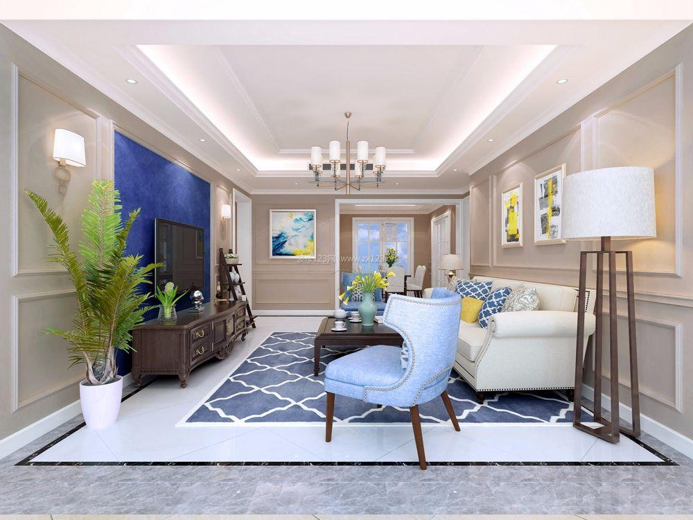 家装效果图 美式 105房屋简约美式风格装修设计图 提供者