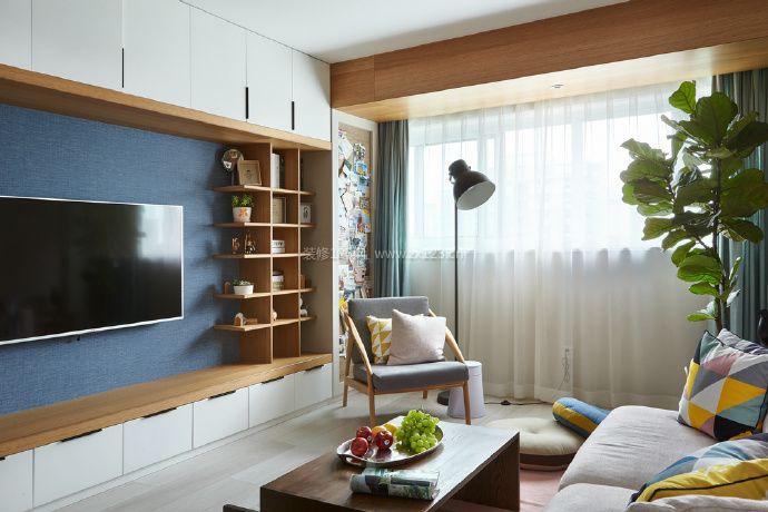 75平房屋北欧简约风格装修效果图大全图片
