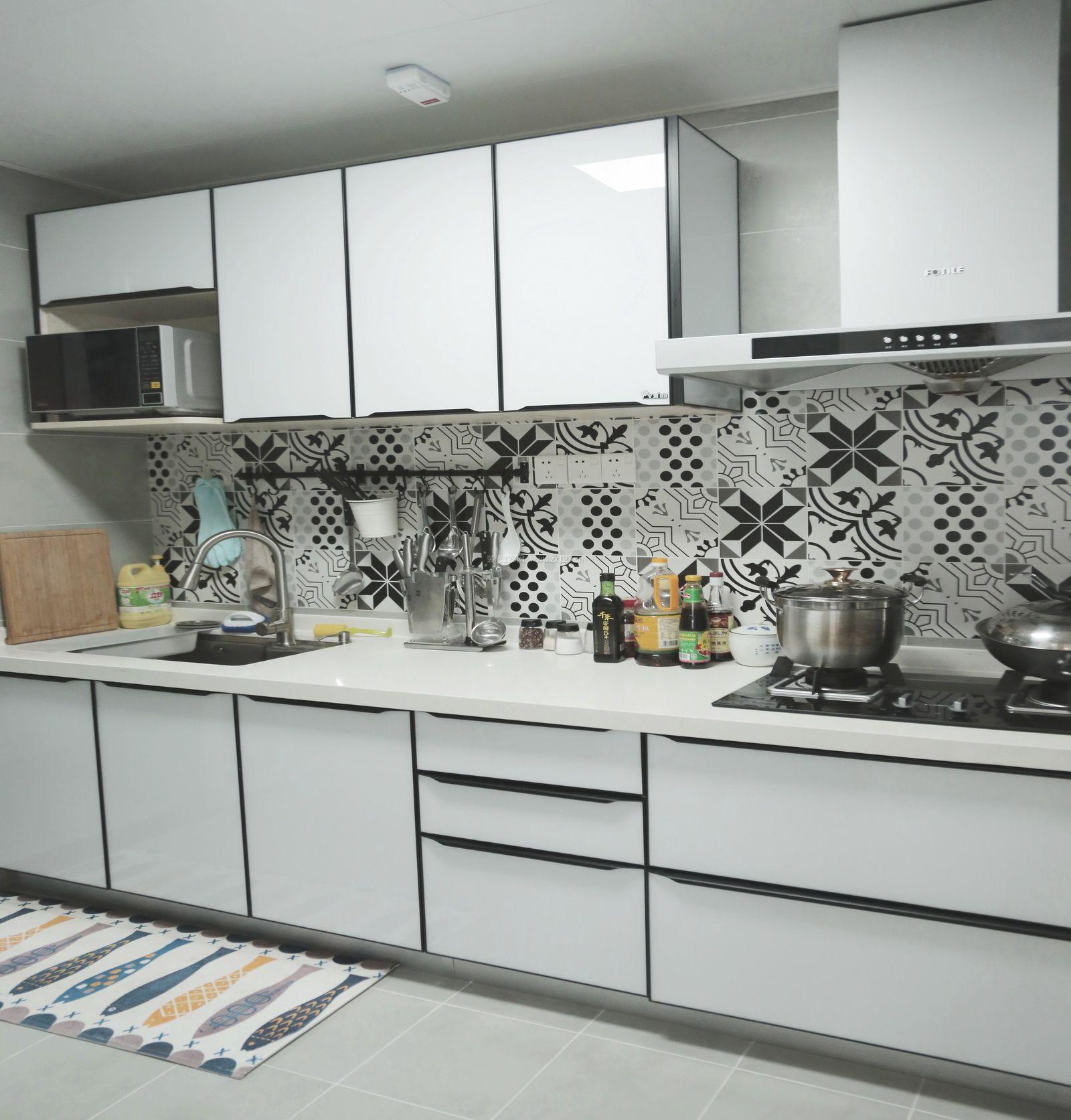 2017北欧厨房墙砖装修效果图片大全图片