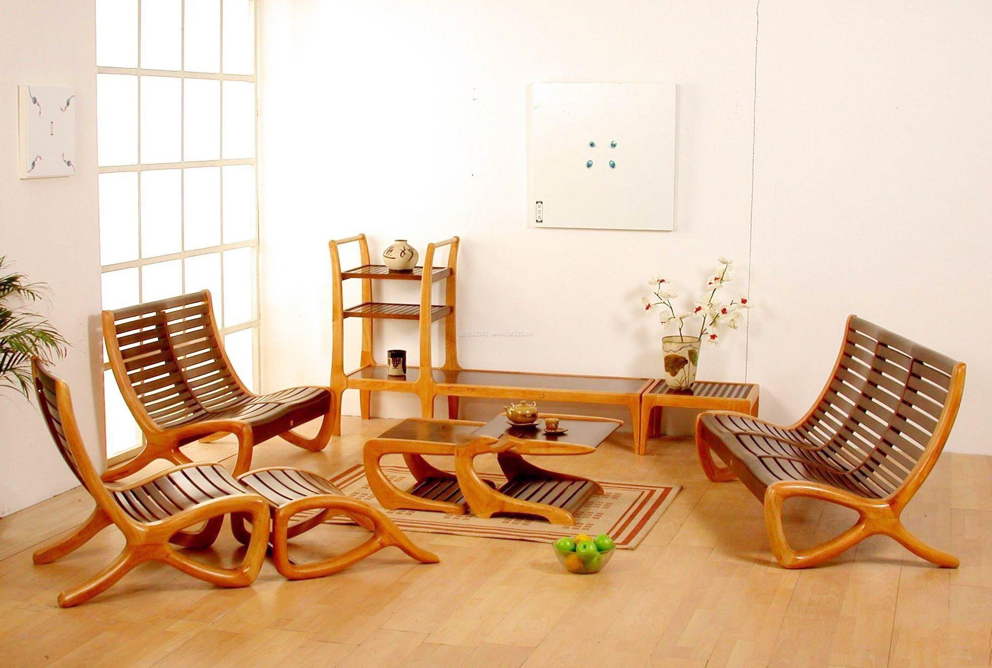 客厅实木曲美家具图片大全欣赏