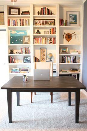 書桌書柜一體圖